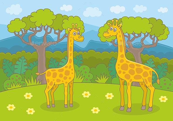 Happy Giraffes - Animals Characters
