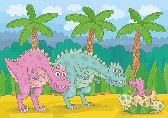 Dinosaur Family - Animals Characters