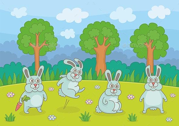 Funny Rabbits - Animals Characters