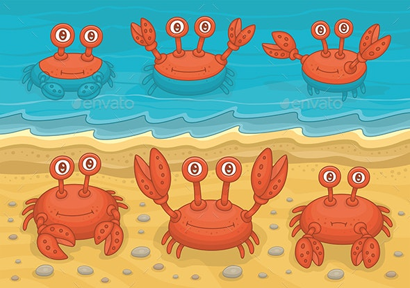Family of Crabs - Animals Characters