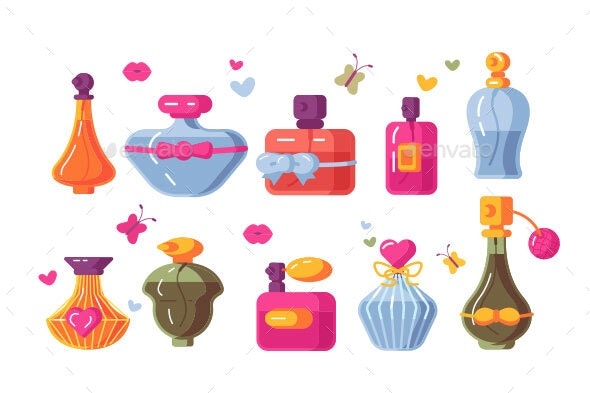 Perfume Bottles Set - Man-made Objects Objects