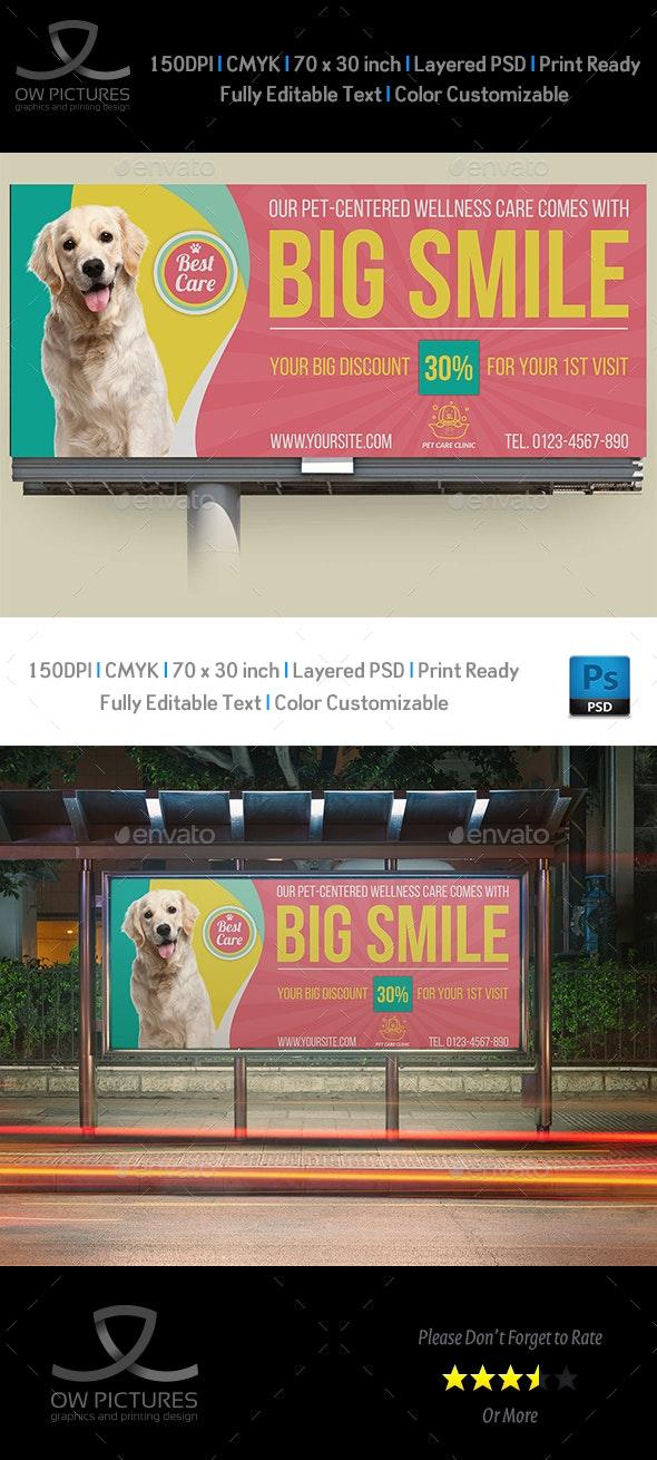 Pet Care Center Billboard Template Vol.2 - Signage Print Templates