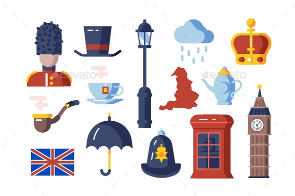 London Symbols Set - Miscellaneous Vectors