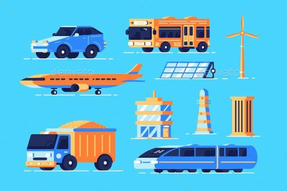 Urban Transport Set - Miscellaneous Vectors