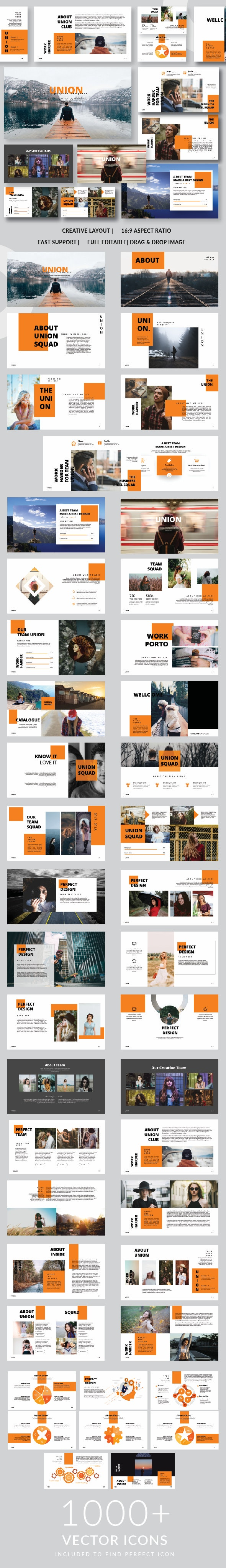 UNION Google Slide Template - PowerPoint Templates Presentation Templates