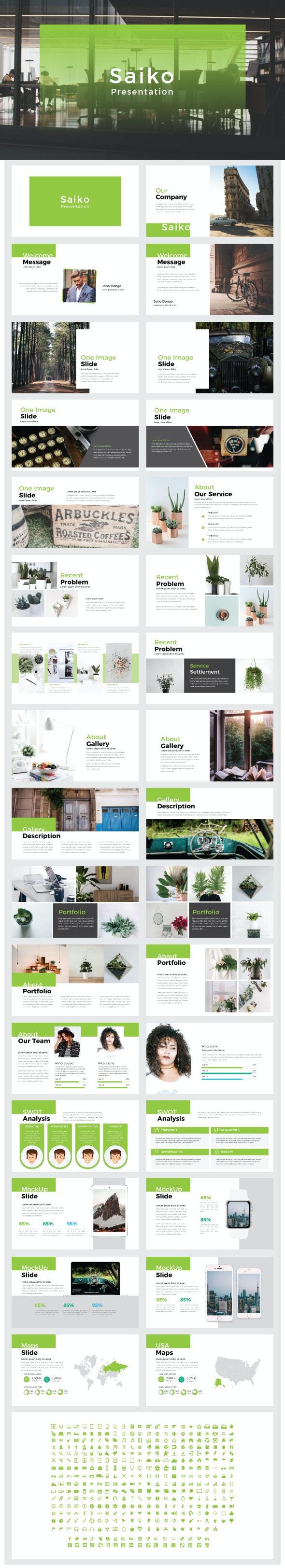 SAIKO - Keynote Templates - Creative Keynote Templates