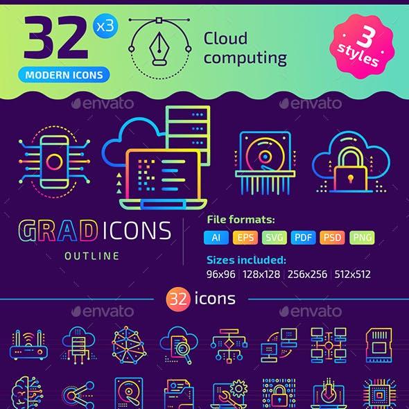 +32 Cloud computing : : GRADICONS