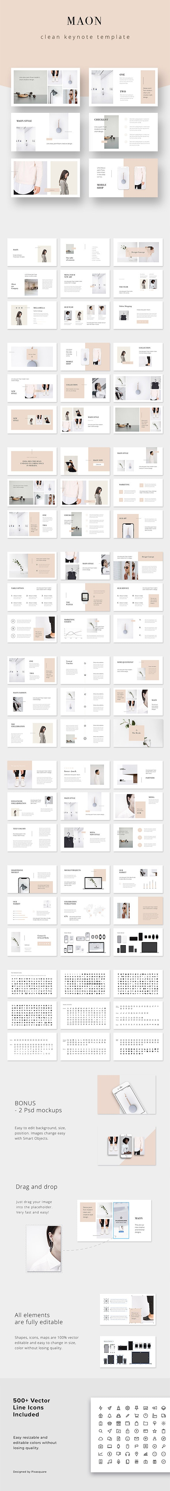 MAON - Keynote Presentation Template - Creative Keynote Templates