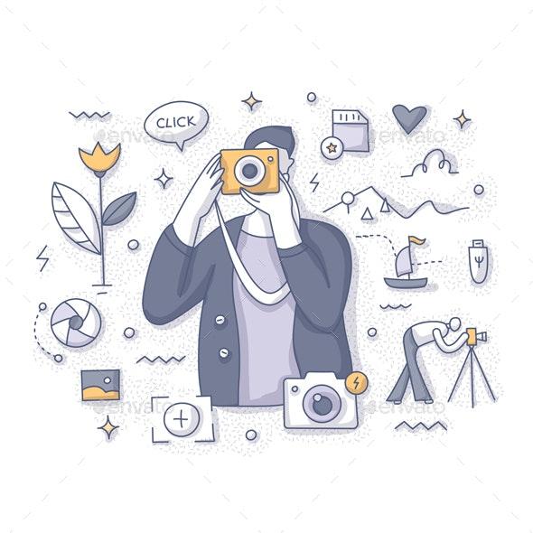 Photographer Taking Pictures Concept - Miscellaneous Conceptual