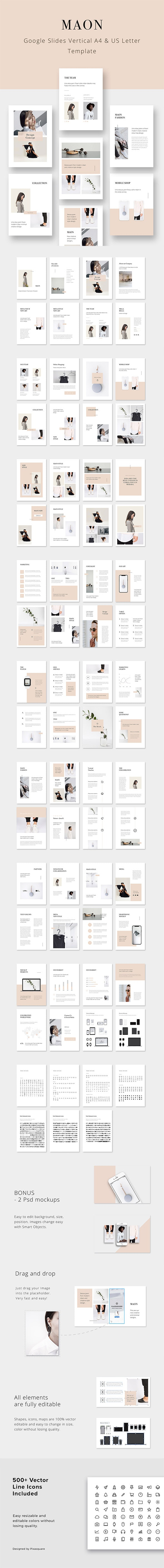 MAON - Vertical Google Slides Presentation Template - Google Slides Presentation Templates