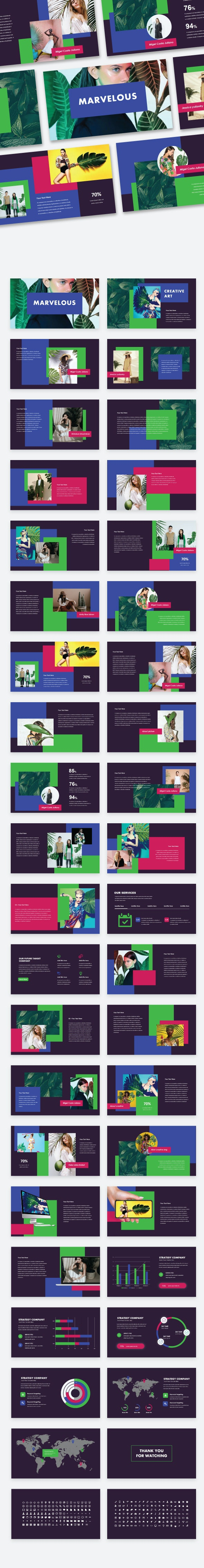 Marvelous - Creative & Colorfull PowerPoint Template - Abstract PowerPoint Templates