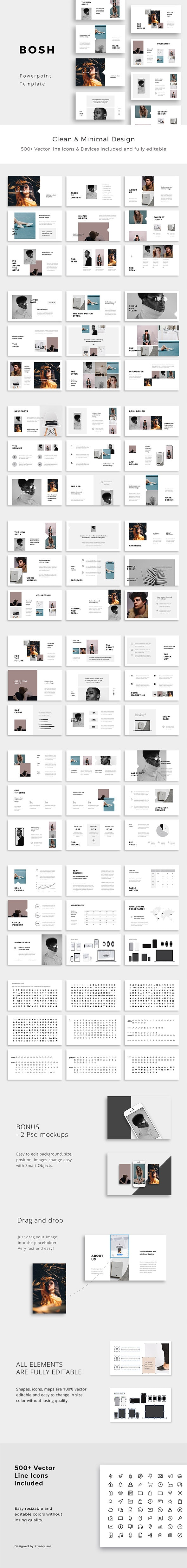 BOSH - Minimal Powerpoint Template - Creative PowerPoint Templates