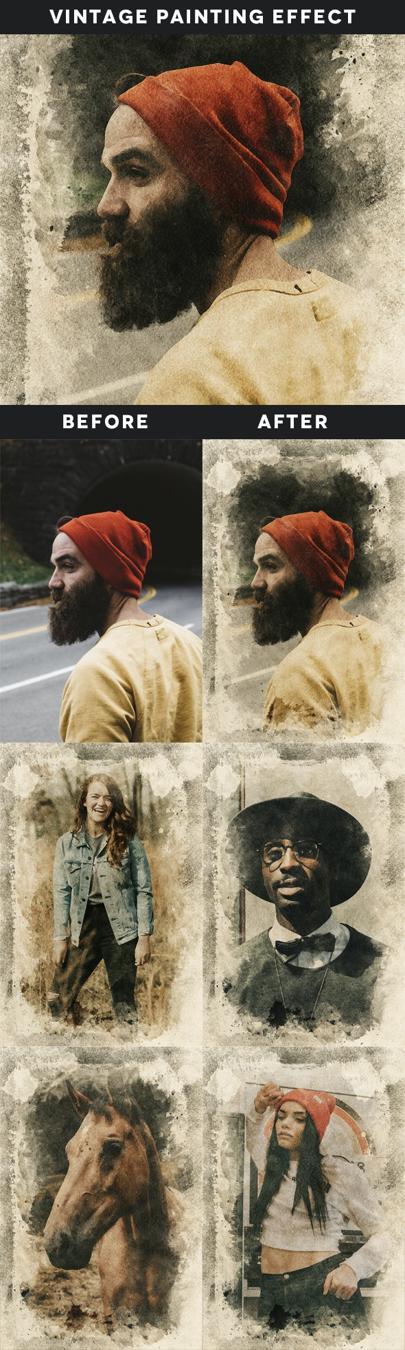 Vintage Painting Effect - Photo Effects Actions