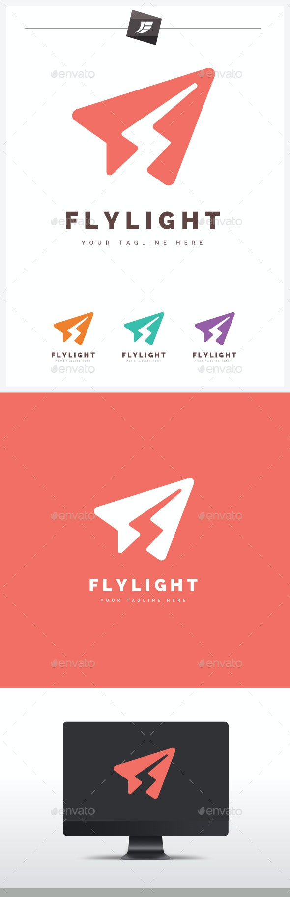 Fly Light Logo - Symbols Logo Templates
