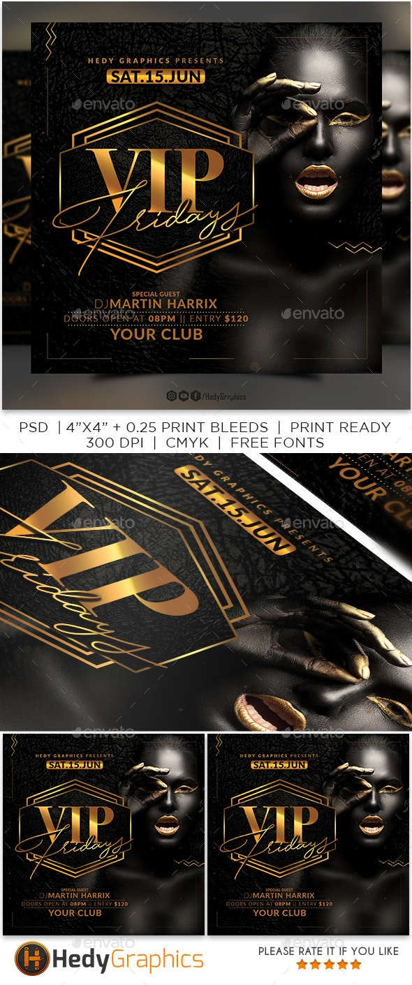 Vip Fridays Flyer - Clubs & Parties Events