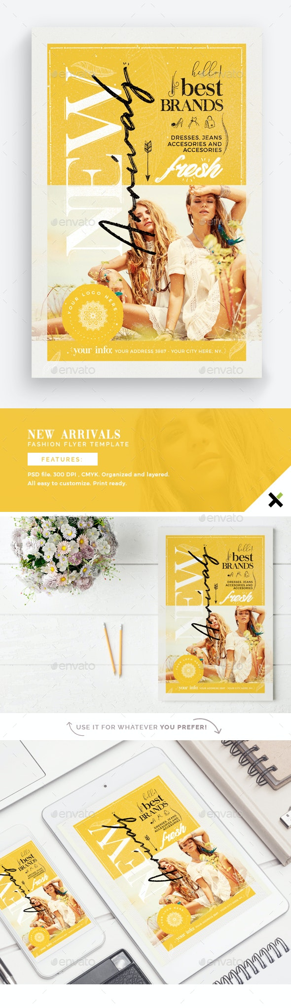 New Arrivals - Fashion Flyer Template - Events Flyers