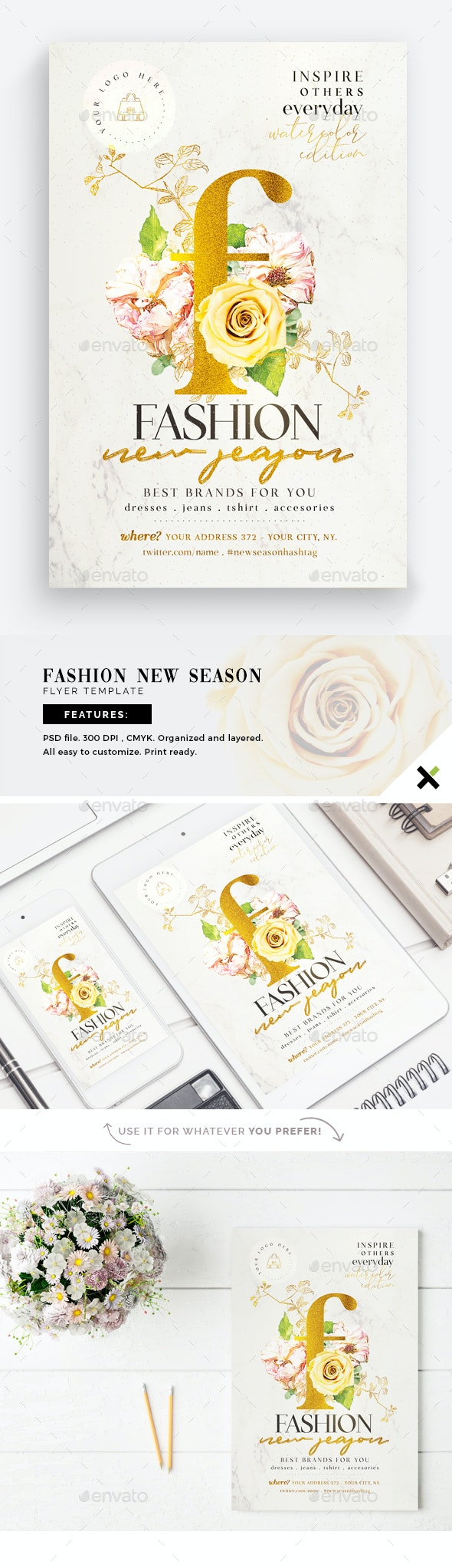 New Season Fashion Flyer Template - Events Flyers