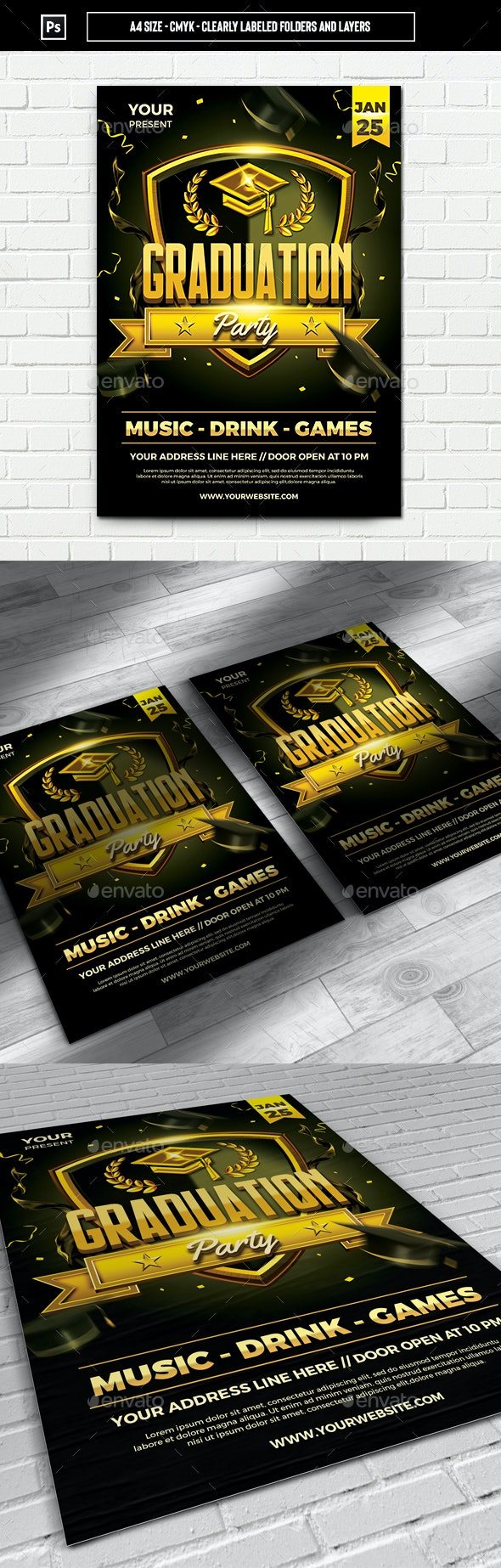 Graduation Party Flyer Template - Events Flyers