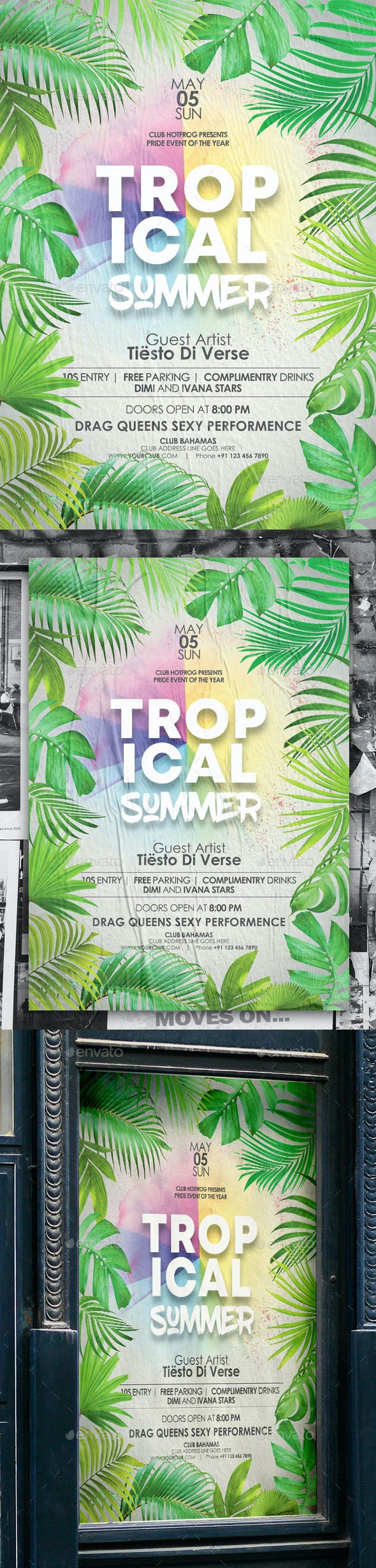 Tropical Summer Poster - Events Flyers