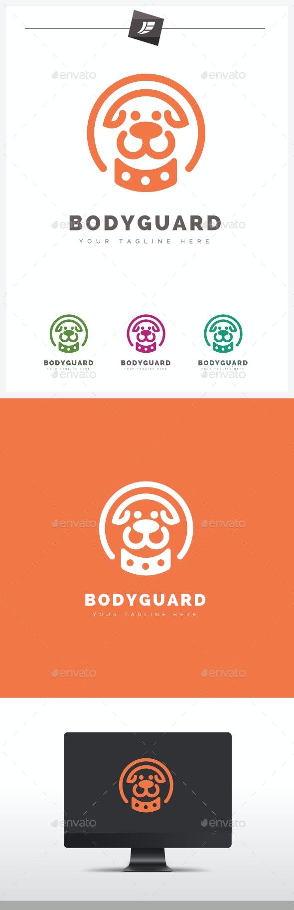 Bodyguard Dog Logo - Animals Logo Templates