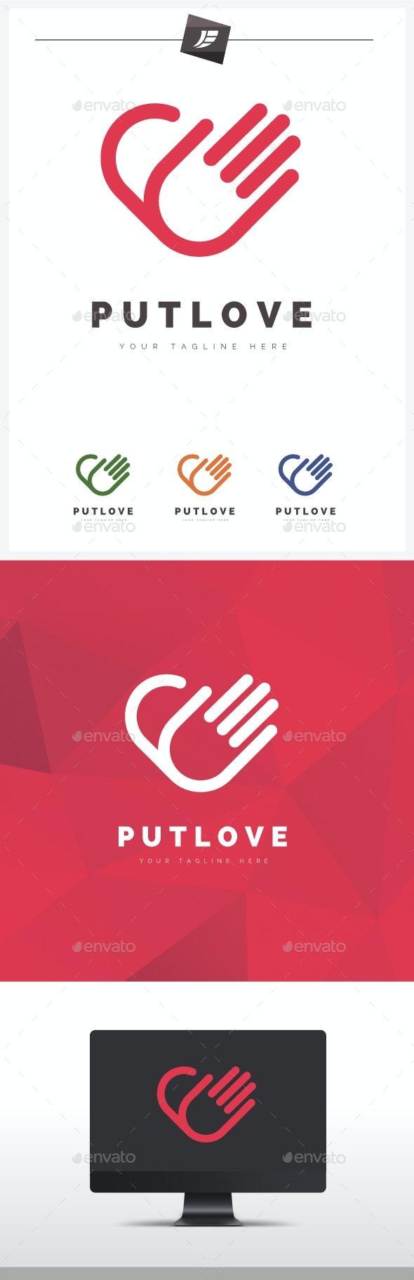 Put Love Logo - Symbols Logo Templates