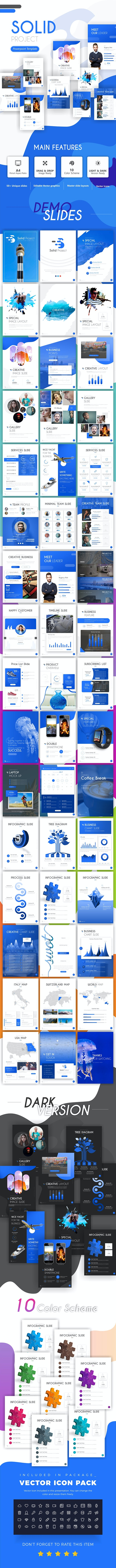 Solid Project Creative Portrait PowerPoint Template - PowerPoint Templates Presentation Templates