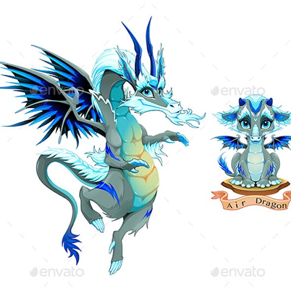 Dragon of Air Element in Two Variation Puppy and Adult