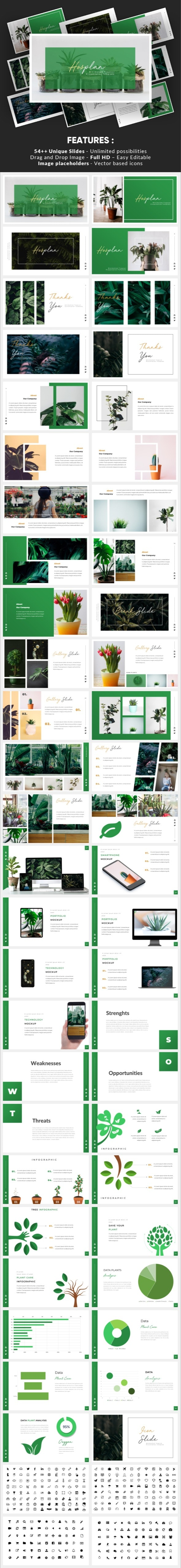 Hosplan - Minimalism Tropical Keynote Template - Nature Keynote Templates