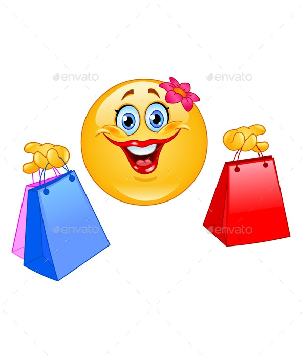 Shopping Emoticon - People Characters
