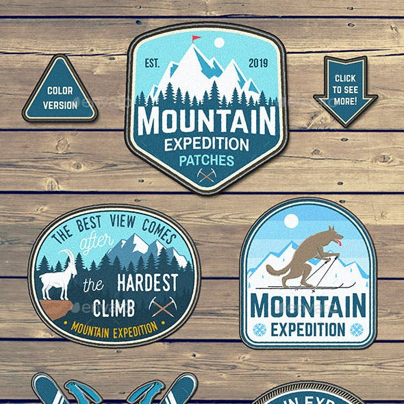 Mountain Expedition Patches