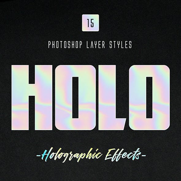 Holographic Photoshop Layer Styles