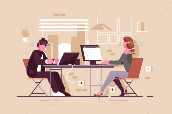 People in Modern Office - Concepts Business