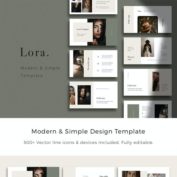 LORA - Powerpoint Modern & Simple Presentation Template