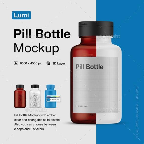 Pill Bottle - Beauty Packaging
