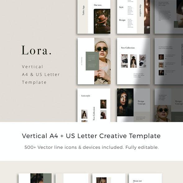 LORA - Vertical Keynote Presentation Template
