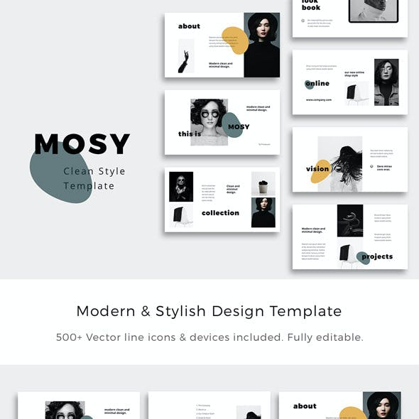 MOSY - Powerpoint Clean & Stylish Presentation Template