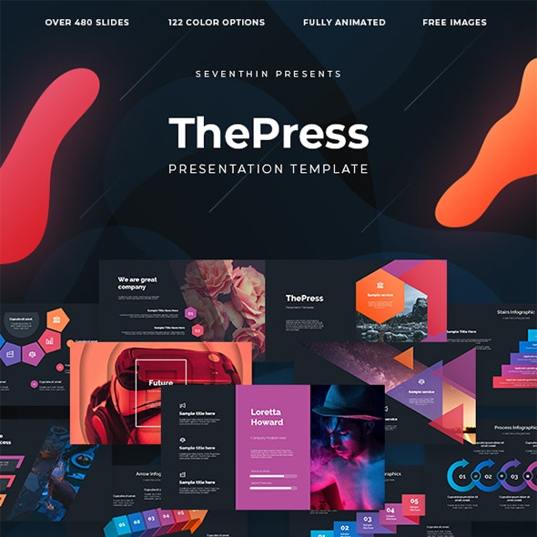 ThePress - Animated Powerpoint Template - PowerPoint Templates Presentation Templates
