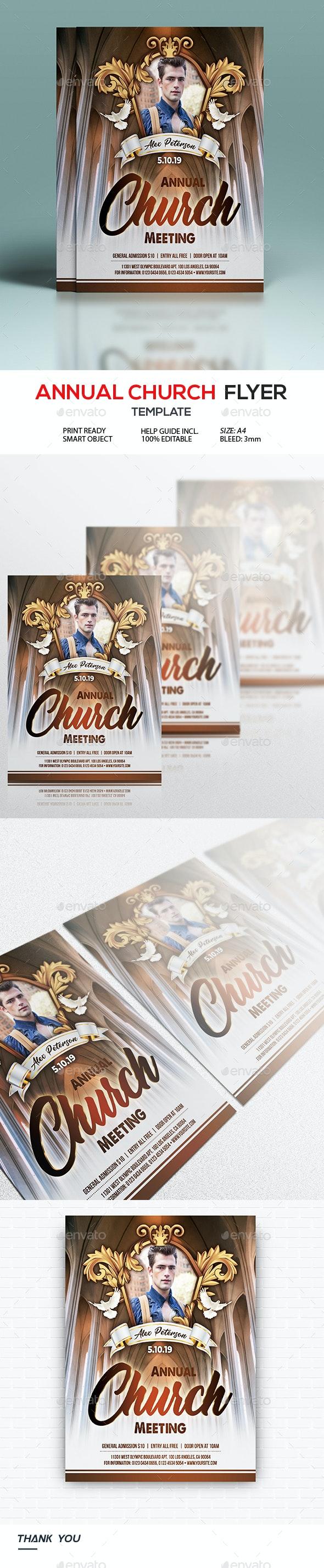 Annual Church Flyer - Events Flyers