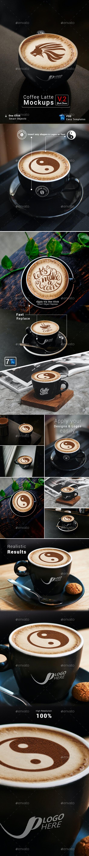 Coffee Latte Mockups V2-Black Theme - Logo Product Mock-Ups