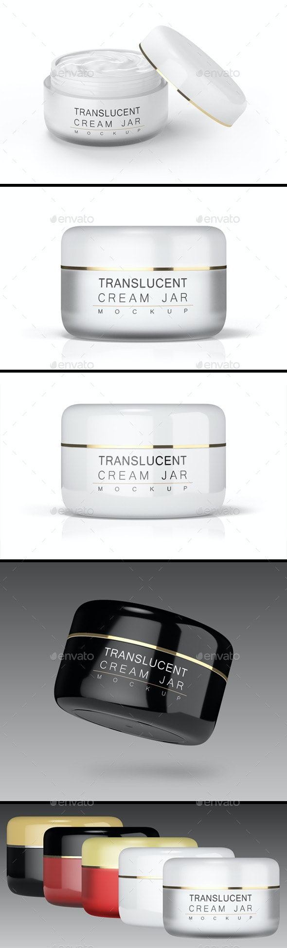 Cream Jar Mock-up (Solid and translucent) - Product Mock-Ups Graphics