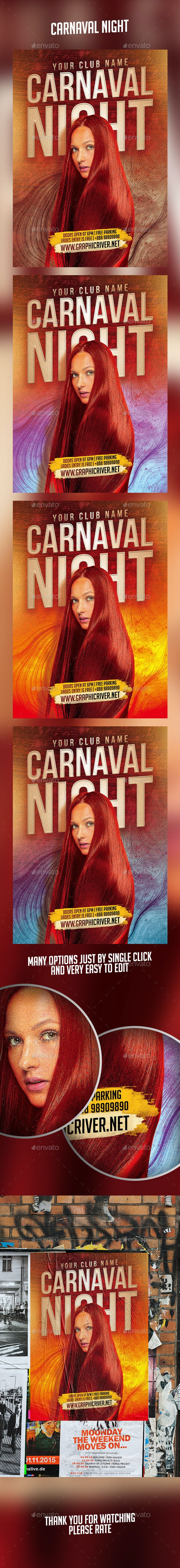 Carnaval Night Flyer - Events Flyers