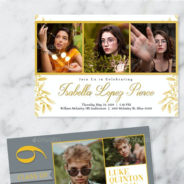 Graduation Announcement Invitation Cards
