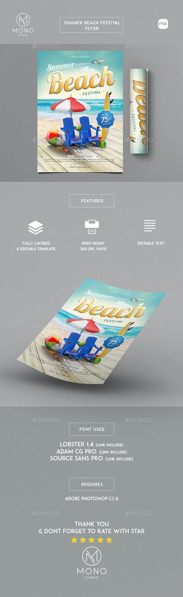 Summer Beach Festival Flyer - Events Flyers