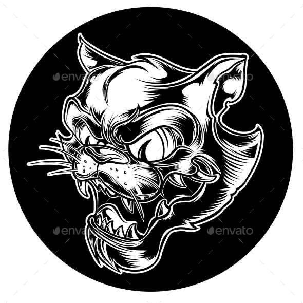 Black Cat Tiger - Vectors