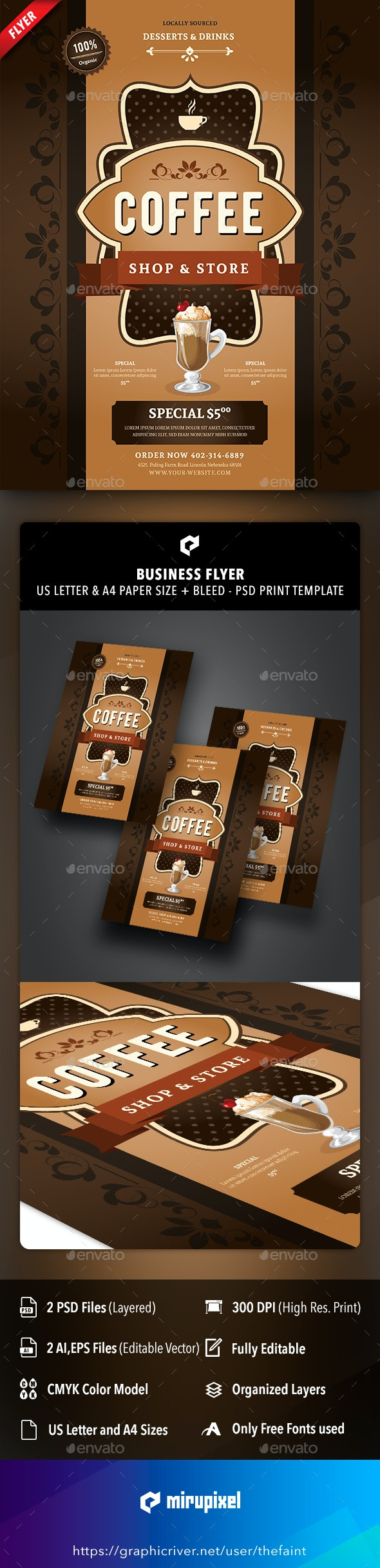 Coffee Business Flyer - Commerce Flyers