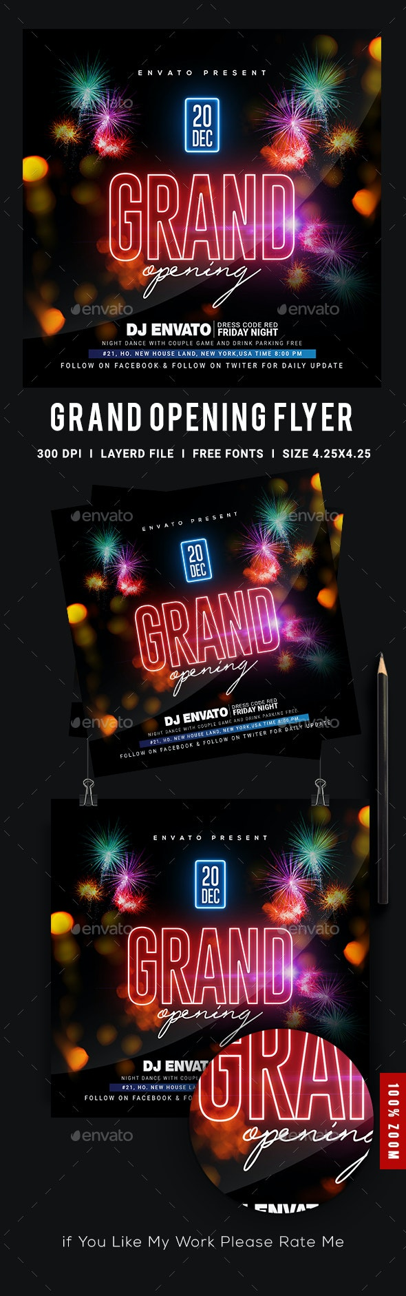 Grand Opening Party Flyer - Events Flyers