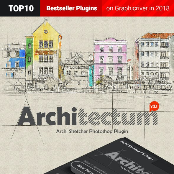 Architectum 3 - Archi Sketcher Photoshop Plugin