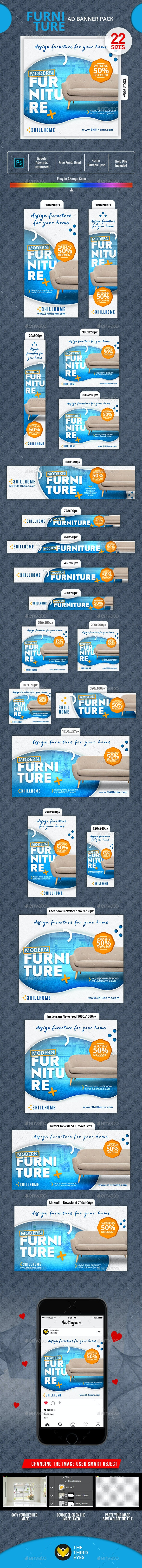 Furniture Banner - Banners & Ads Web Elements