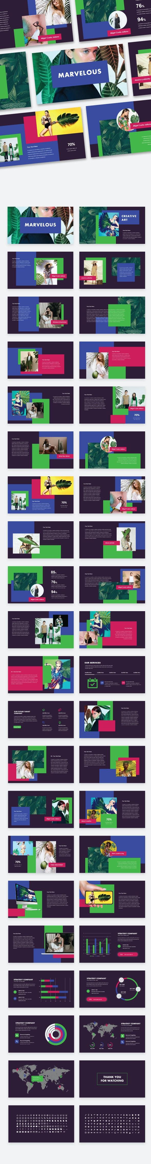 Marvelous - Creative & Colorful Google Slide Template - Google Slides Presentation Templates