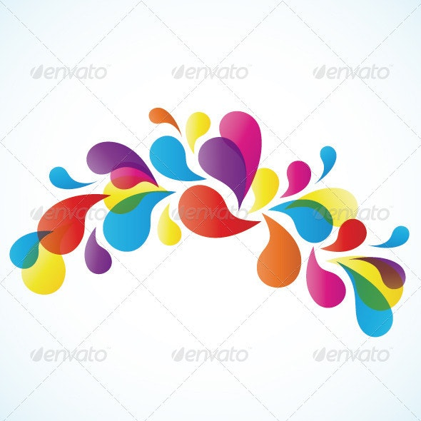 Abstract Colorful Arc-drop  - Backgrounds Decorative